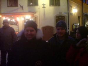 Två av vandrarna innan turen... Vet inte om dom såg lika glada ut efteråt:)